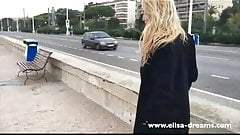 Flashing my pussy in public on the French Riviera