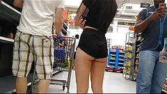 Teen in Black Shorts Pounded