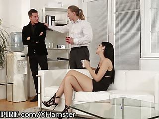 Top asian female box office draws Biempire hunk assfucked at the office while female masturbat