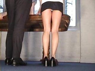 Ass black pantie white Black mini, white panties upskirt