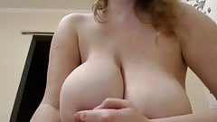 Big tits F tease and play on Russian girl