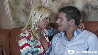 Blonde with big tits loves to fuck