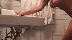 Latina bathroom fuck