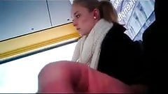 She has a good look at bus flasher.flv