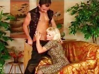 Hot granny lingerie - Hot older euro cougar in heels gets a big one