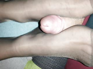 Foot rub after heels and pantyhose Nylon foot rub with the wife