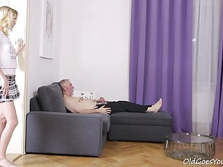 Young sexy blonde amateur Old goes young - sexy helena blows old goes young