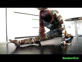 Unusually flexible girls fucked - Flexible gymnast sucking and fucking a big hard cock