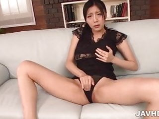 Man stimulating cock Miho ichiki gets stimulated with a big toy cock