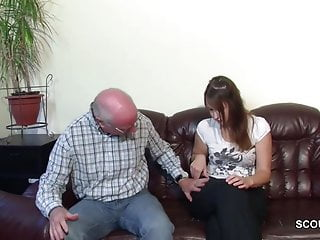White collars sexy grand daughter Old grandfather seduce not grand-daughter to first fuck