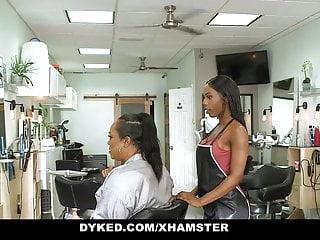 Sexy straight black man Dyked - curvy lesbian stylisted seduces straight teen