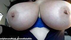 Antonella Kahllo showing off my big Latina tits
