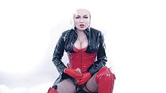 JOI FemDom part 3, with strapon and CEI