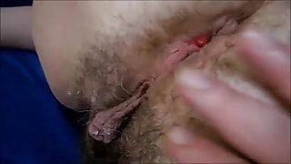 Teasing long pussy lips