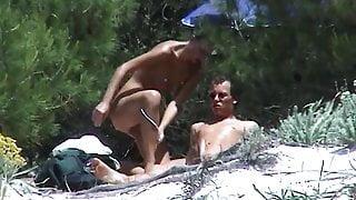 Couple fucks on the beach