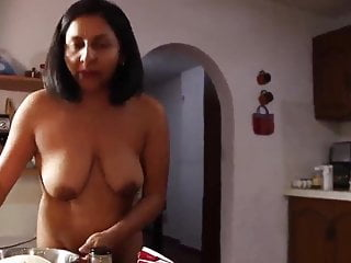 Nude photographs of indian woman Nude cooking by indian origin woman