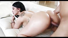 Cuban girlfriend Kitty Caprice blows and bounces on a cock.