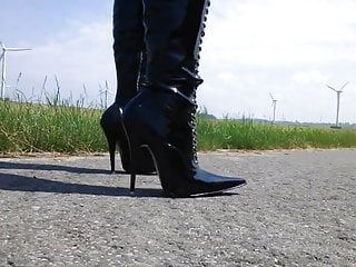 Spandex and boots bondage video clips - Stiletto boots