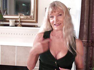 Skinny grannie sex - Skinny granny nancy masturbated with dildo