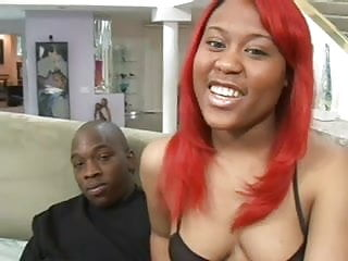 Black cock suckers in lipstick Hot ebony babe is a sucker for big black cock