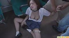 Schoolgirl Yuna Satsuki asian blowjob and public fuck