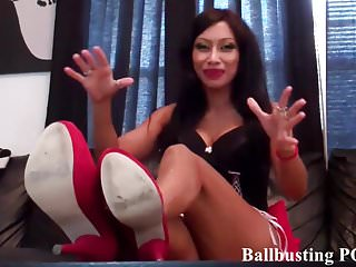 Pulled by the testicles bdsm - I am going to completely destroy your testicles
