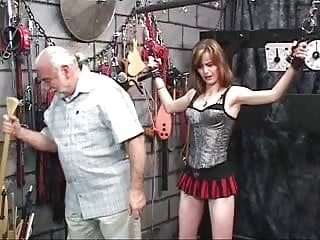 Transvestite masochism Bitch likes masochism and old guy likes hurt her ass in strange place