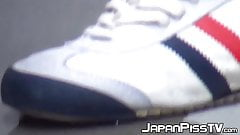 Real Japanese amateurs filmed peeing all around town