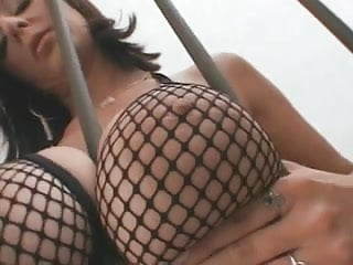 Cock stretch - Brunette gets her pussy stretched by a big black cock