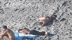 Topless on Beach