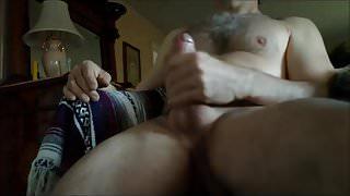 Handsome Str8 Step Dad Horny Jerk Off & Cum ( Double Cum Clip )