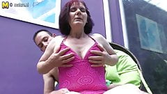 Classy old granny fucking her toy boy