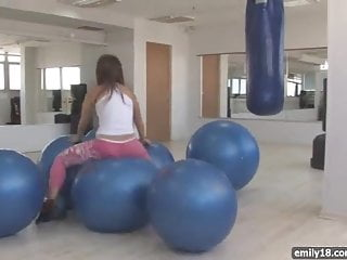 Emily 18 nude gallery - Teenager with exercise balls