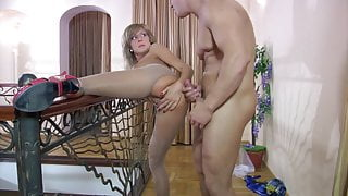 Fucked girl in pantyhose