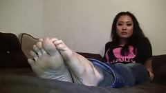 Andrea girl feet from Japan