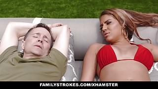FamilyStrokes - Caught Masturbating and Fucked By Stepmom