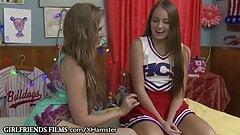 GirlfriendsFilms Lena Paul Guides Shy Cheerleader