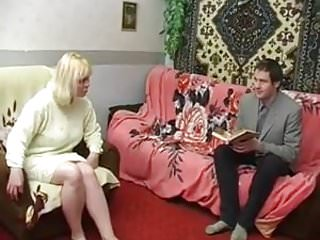 Milf seduces housewife video - Russian mature housewife seduced a young lodger