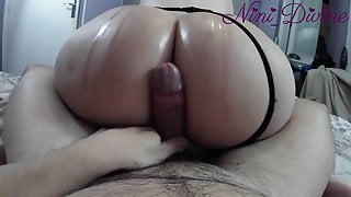 The Best Assjob of my fucking life with that Big Oiled Ass!