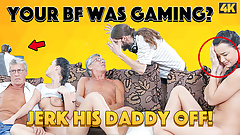 DADDY4K. Boyfriend is busy so why babe has sex with his old