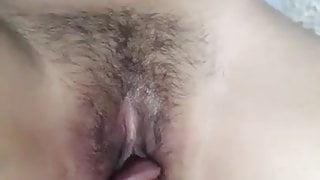 Desi wife with a hairy pussy gets fucked missionary style