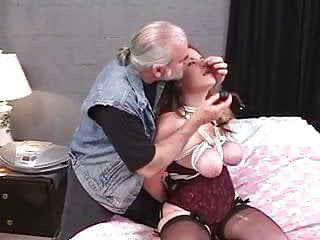 Bdsm dom seeks second submissive - Dom puts rope around submissive sluts tits and pinches her nipples