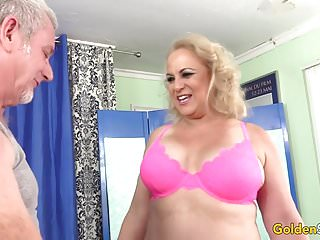 Dogs lick their genitals Older blonde summer has her body and genitals massaged