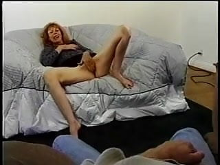 Poke her ass - Hot milf gets her ginger minge poked and a creamy face