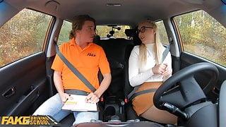 Fake Driving School, blonde learner Amaris
