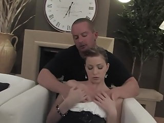 After sex videos - Young girl after sex gets cum on butt