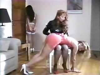 Youtube panty spank - Nice ass spanked in satin panties
