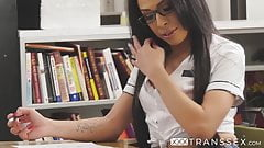 Fucking on school table is fetish for sensual Milli Quinzel