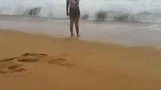 sea bath with wife