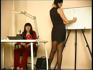 Milf lessons lesbians Elder teacher young pupil at the lesson